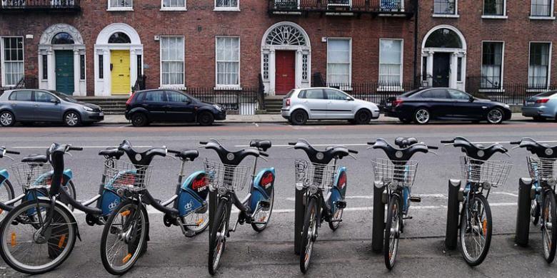 Sepeda di Dublin Irlandia.