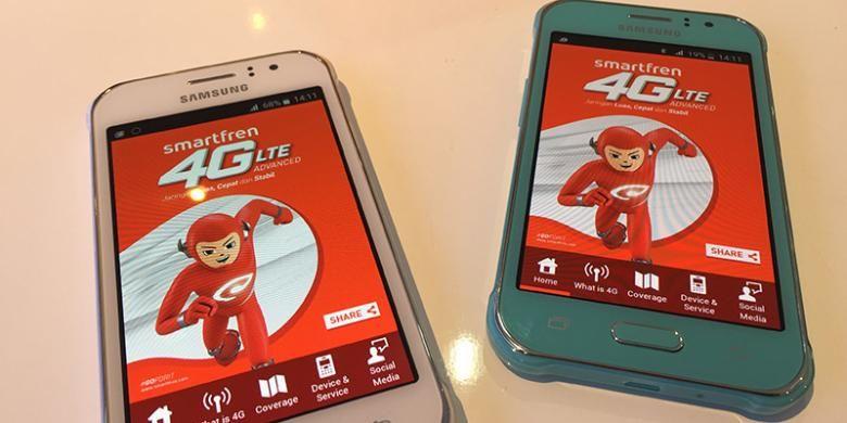Ponsel Samsung Galaxy J1 ACE VE yang dipaketkan Smartfren dalam bundling  kartu perdana 4G LTE a46b6d5f78