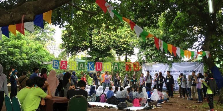 Ratusan anak muda penerima (BPI) Lembaga Pengelola Dana Pendidikan (LPDP) Kementerian Keuangan menggelar acara Socio Tech Day yang digelar di Wisma Hijau, Depok, Jawa Barat, Sabtu (13/8/2016).