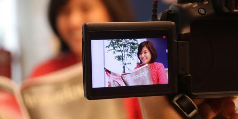 Ilustrasi merekam video.