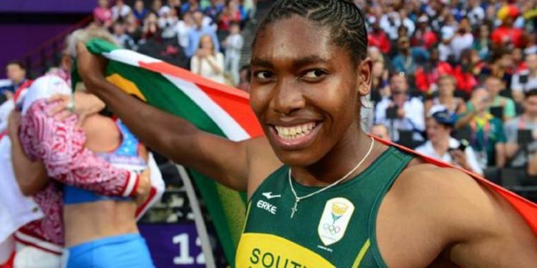 Caster Semenya, pelari dari Affrika Selatan.