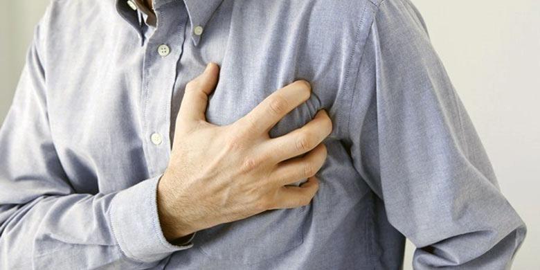 Ilustrasi serangan jantung.