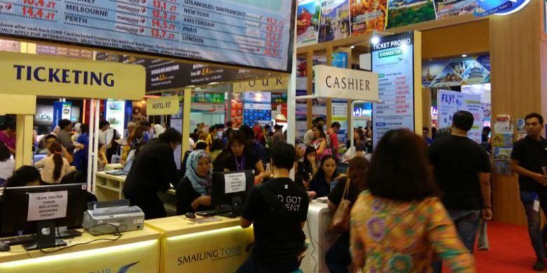 Kompas Travel Fair (KTF) 2016 di Jakarta Convention Center yang digelar tanggal 2-4 September.