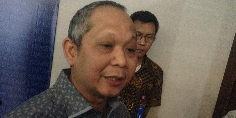 Kepala Badan Pengatur Jalan Tol Herry Trisaputra Zuna di Kementerian Pekerjaan Umum dan Perumahan Rakyat (PUPR), Jumat (9/9/2016).