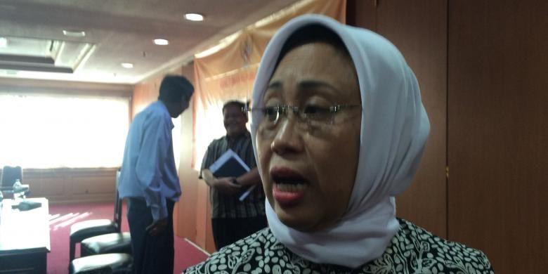 Wakil Ketua Ombudsman RI, Lely Pelitasari Soebekty usai audiensi antara Kontras dengan Ombudsman RI di Jakarta, Selasa (20/9/2016).