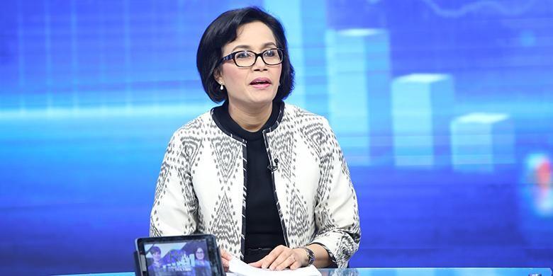 Menteri Keuangan Sri Mulyani berpartisipasi dalam program Rosi di KompasTV, Jakarta, Sabtu (24/9/2016).