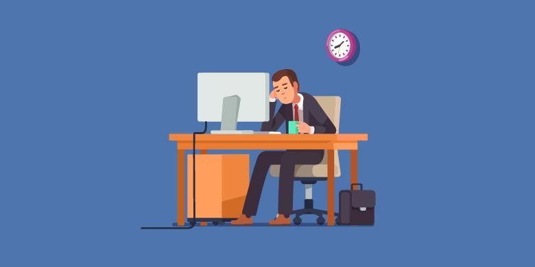 Ilustrasi bosan kerja