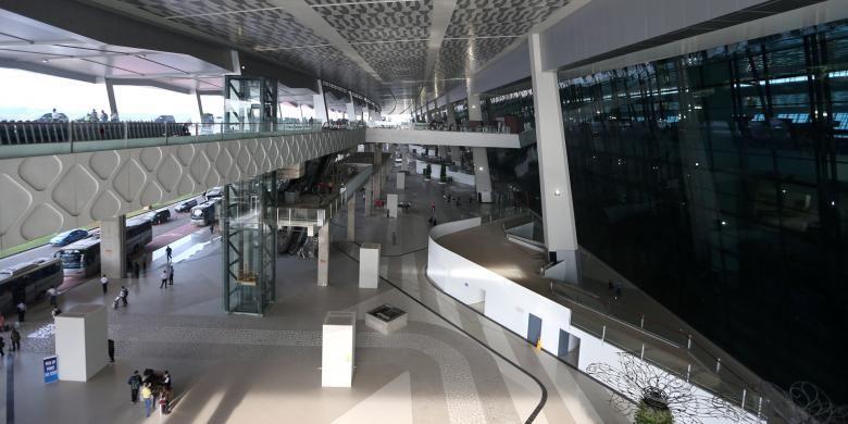Suasana di Terminal 3 Ultimate Bandara Soekarno-Hatta, Tangerang, Banten, Selasa (9/8/2016).Terminal 3 Ultimate Bandara Soekarno-Hatta resmi beroperasi sepenuhnya hari ini.