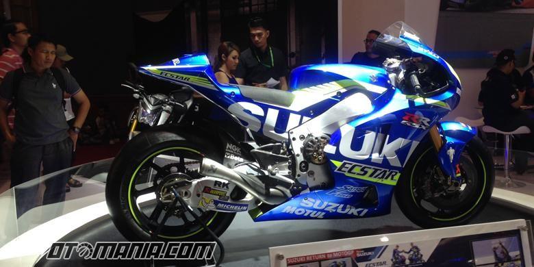Motor Balap Suzuki di MotoGP di Pamerkan di IMOS 2016.