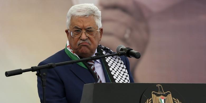Presiden Palestina Mahmoud Abbas,