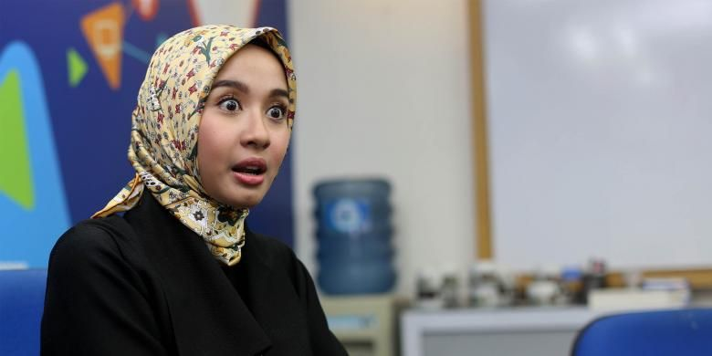 Laudya Cynthia Bella saat berbincang dengan Kompas.com di Gedung Kompas Gramedia, Palmerah Selatan, Jakarta Pusat, Jumat (11/11/2016).