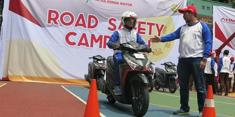 Kampanye keselamatan berkendara Honda.