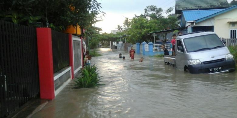 Ilustrasi banjir Samarinda