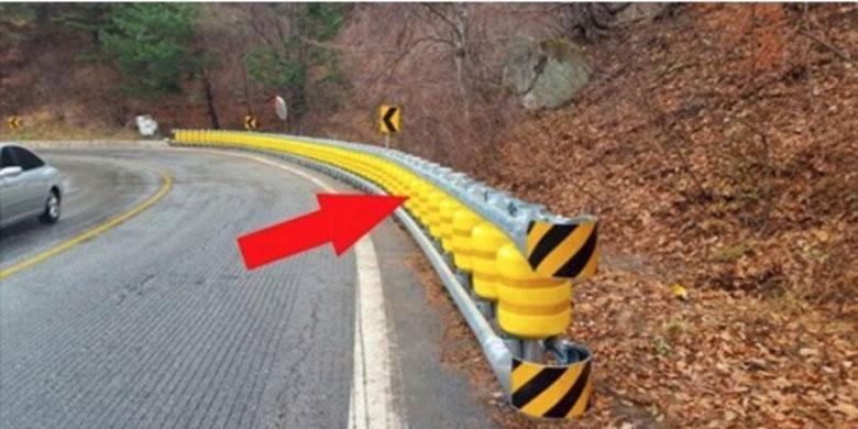 Inovasi pembatas jalan model baru.