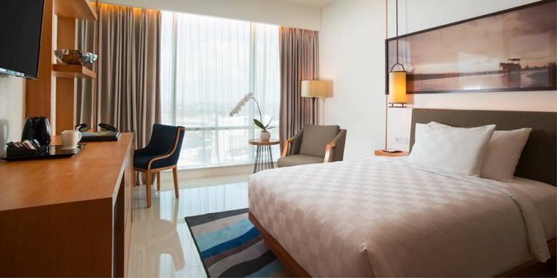 Kamar di Resinda Hotel Karawang.