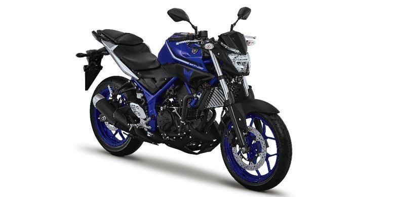 Warna baru 2017 Yamaha MT-25, Solid Blue