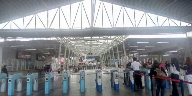 Hall di Stasiun Bogor. Gambar diambil pada Jumat (20/1/2017).