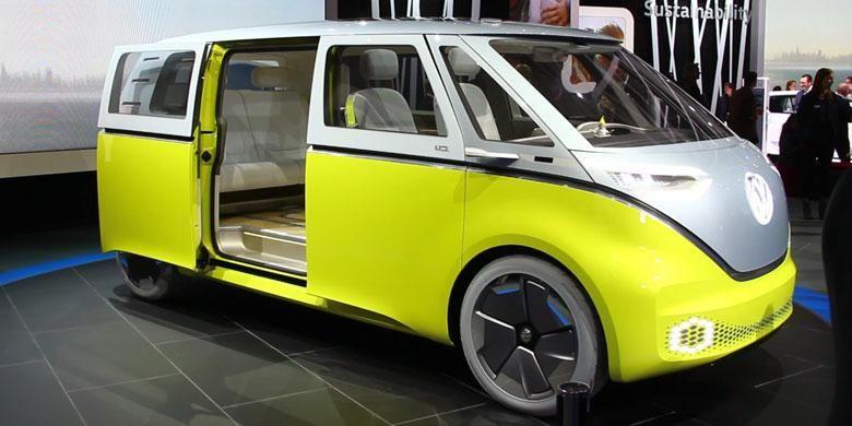 Mobil konsep Volkswagen I.D. Buzz.