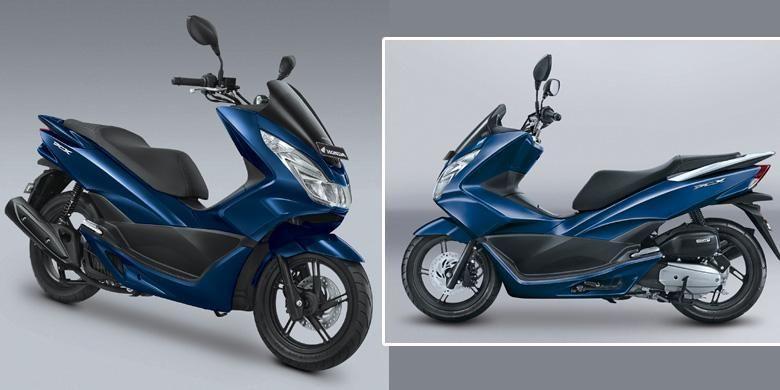 Honda PCX mendapat siraman kelir baru Exclusive Poseidon Blue.