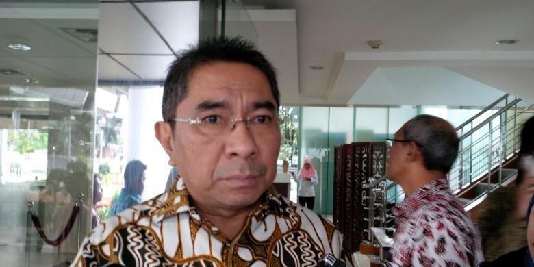 Direktur Utama PT Pelabuhan Indonesia II (Persero) (Pelindo II) Elvyn G Masassya, saat ditemui di Kantor Kementerian Koordinator Bidang Kemaritiman Jakarta, Senin (30/1/2017).