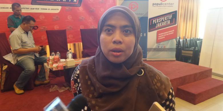 Komisioner Komisi Pemilihan Umum (KPU) DKI Jakarta, Betty Epsilon Idroos  seusai acara diskusi di bilangan Menteng, Jakart Pusat, Sabtu (4/1/2017).