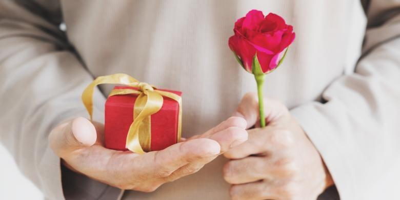 Ilustrasi kado untuk Hari Kasih Sayang