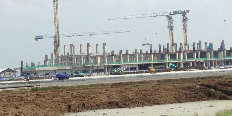 Pembangunan Terminal Penumpang Bandara Kertajati Majalengka, Jawa Barat (13/2/2017)