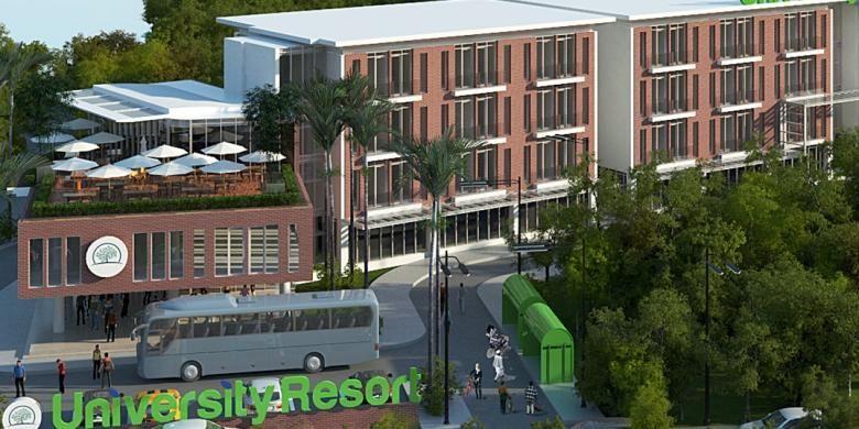 University Resort Apartment merupakan salah satu proyek terbaru apartemen dengan segmen mahasiswa di kawasan Bogor, Jawa Barat.