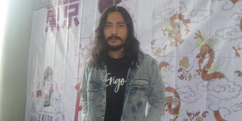 Marcello Tahitoe diabadikan usai peluncuran koleksi terbaru Erigo di Artotel, Jakarta Pusat, Senin (20/2/2017).