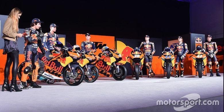 Peluncuran sepeda motor dan tim balap KTM untuk musim MotoGP 2017.