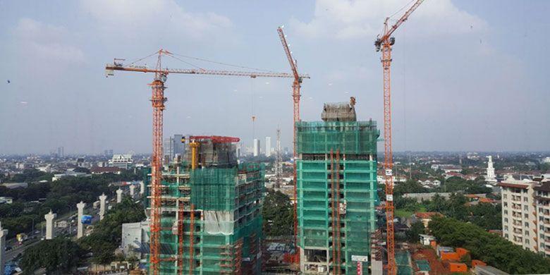 Progres pembangunan apartemen Branz Simatupang telah mencapai 30 persen. Foto diambil Senin (10/7/2017).