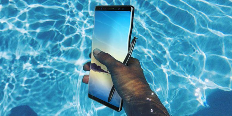 Galaxy Note8 juga andalkan fitur anti-air (water resistant).