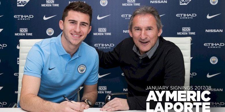 Foto perkenalan Aymeric Laporte oleh Manchester City