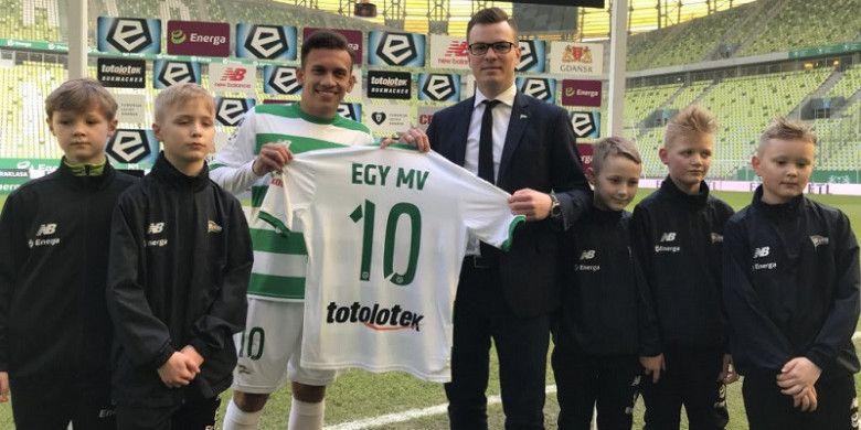 Egy Maulana Vikri resmi diperkenalkan sebagai pemain baru Lechia Gdansk, Minggu (11/3/2018) di Energa Stadium.