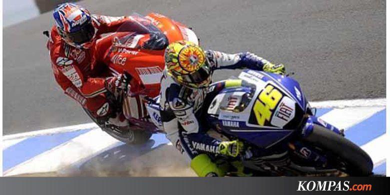 Duel antara Valentino Rossi dan Casey Stoner di GP Amerika Serikat di Sirkuit Laguna Seca pada musim 2008.