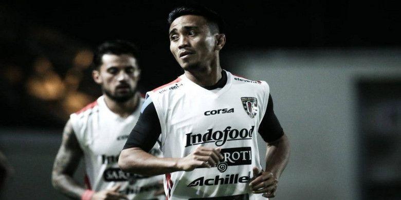 Gelandang Bali United, Muhammad Taufiq.