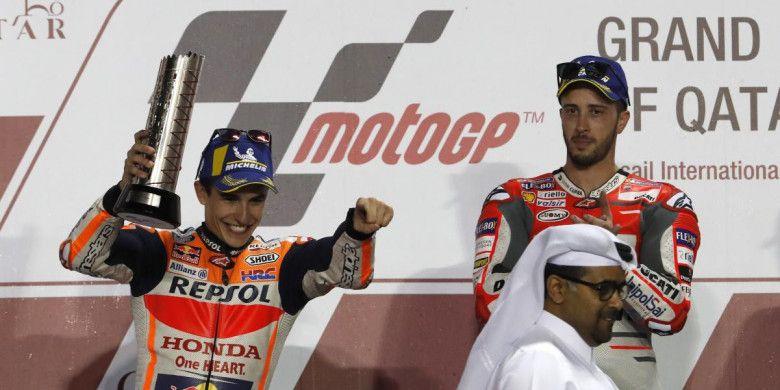 Marc Marquez Harus Puas Finis di Nomor Dua, dan Dovizioso Menjadi Nomor Satu di GP Qatar.