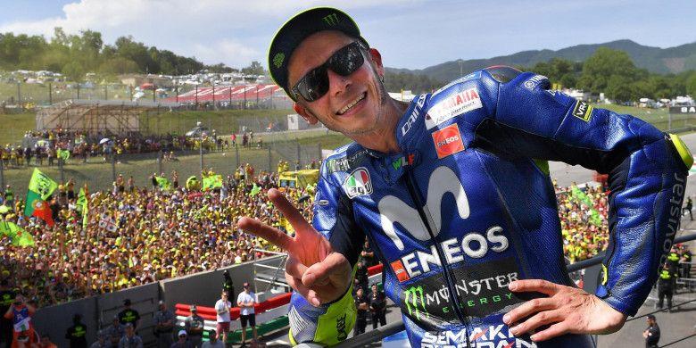 Valentino Rossi meraih podium di MotoGP Italia, Minggu (3/6/2018).