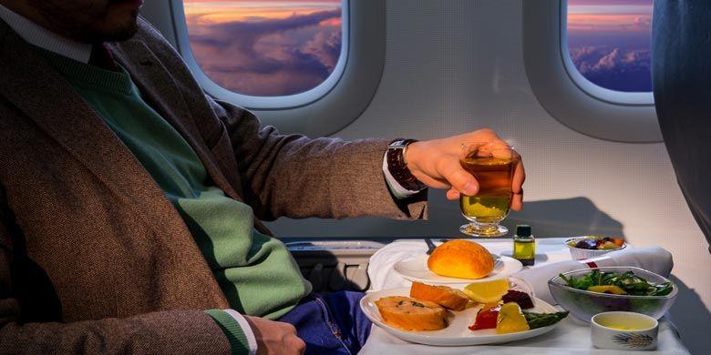Ilustrasi makanan penerbangan