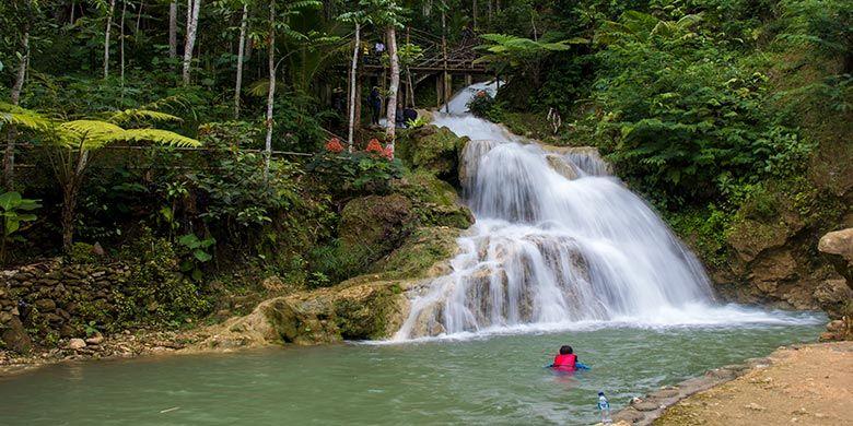 Kolam Ketiga di Ekowisata Sungai Mudal, Kulon Progo, Yogyakarta dengan kedalaman sekitar dua meter.