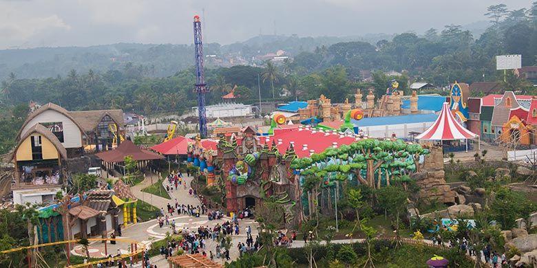 Kawasan Saloka Theme Park dari Ketinggian
