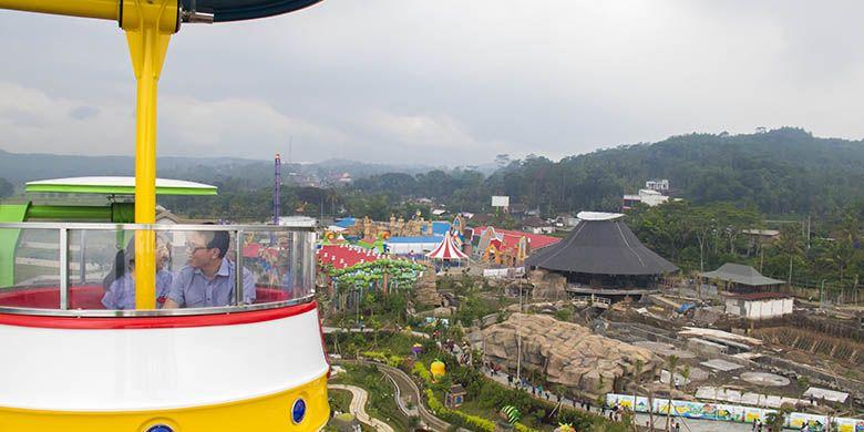 Panorama Saloka Theme Park seluas 18 hektar yang terlihat dari Cakrawala.