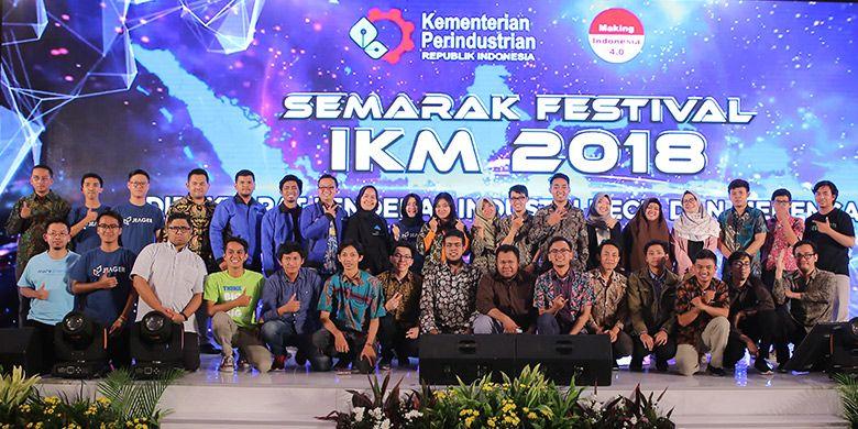 Finalis kompetisi Making Indonesia 4.0 Startup pada Festival Semarak IKM 2018 (Foto: dok. Kementerian Perindustrian)