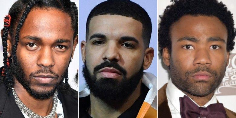 Drake, Kendrick Lamar, dan Childish Gambino adalah tiga peraih nominasi terbanyak dalam Grammy Awards 2019.