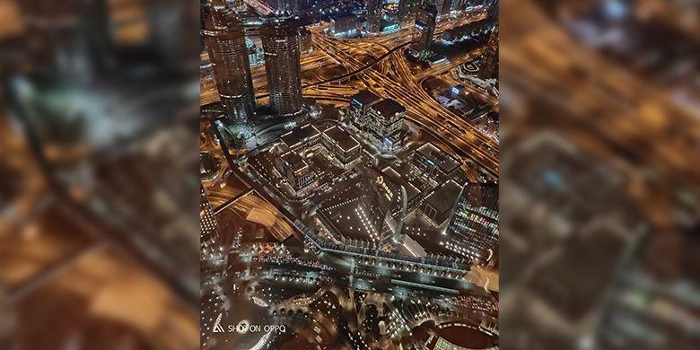Menikmati makan malam sambil mengabadikan keindahan Dubai dengan OPPO R17.
