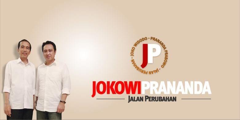 Gambar Joko Widodo dan <a href='https://medan.tribunnews.com/tag/prananda-prabowo' title='PranandaPrabowo'>PranandaPrabowo</a> dalam situs www.jokowiprananda.com