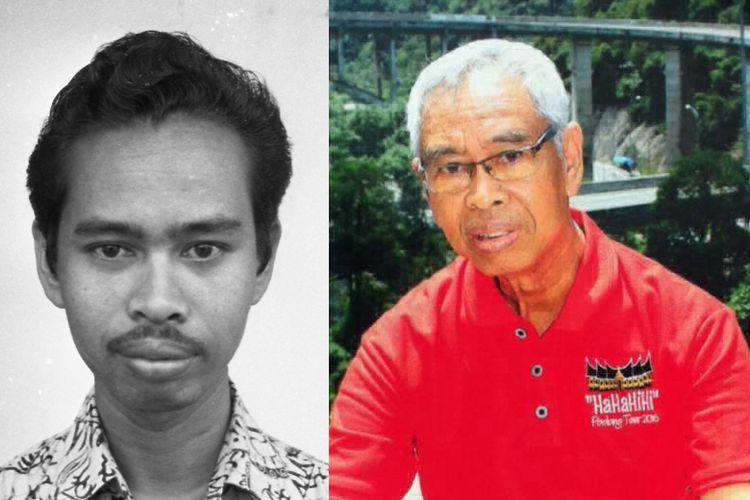 Mamak Sutamat tahun 1976 (kiri) dan 2016 (kanan).