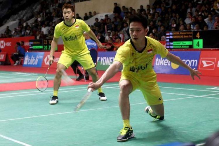 Marcus Fernaldi Gideon/Kevin Sanjaya Sukamuljo di Indonesia Masters 2018