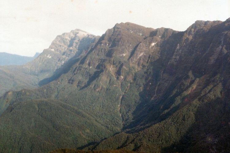 Lanskap Gunung Mandala, Pegunungan Bintang, Papua.