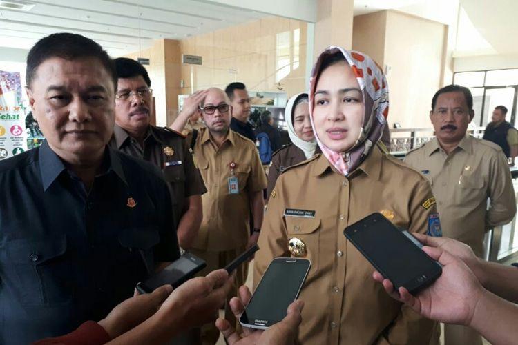 Wali Kota Tangerang Selatan (Tangsel) Airin Rachmi Diany di Balai Kota Tangsel, Selasa (13/3/2018).